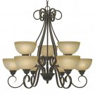 Golden Lighting - 1567-9 PC - Riverton - 9 Light Chandelier