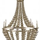 Currey and Company Silvermore - Eight Light Chandelier