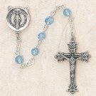 Swarovski™ Aqua Sterling Silver Rosary