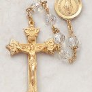 Gold Over Silver Rosary
