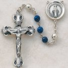 Sterling Silver Semi-Precious Lapis Rosary