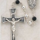 Sterling Silver Rosary with Black Onyx