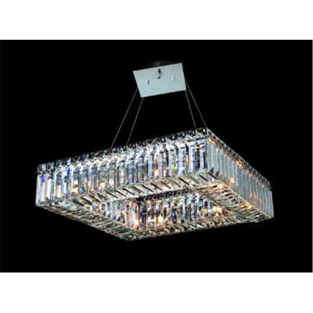 Allegri Lighting - 11710 - Quantum Quadro - Eight Light Square Pendant