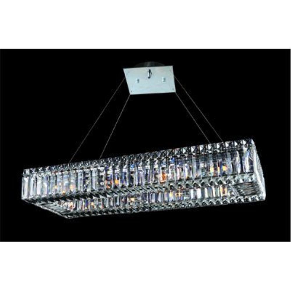 Allegri Lighting - 11708 - Quantum Baguette - Ten Light Rectangle Pendant