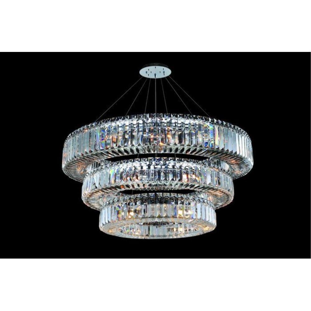 Allegri Lighting - 11770 - Quantum Rondelle - Thirty-Nine Light 3-Tier Round Pendant