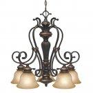 Golden Lighting - 6029-D5 EB - 5 Light Nook Chandelier