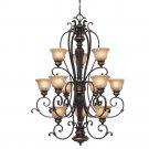 Golden Lighting - 6029-363 EB - 3 Tier Chandelier