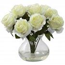 White Rose Arrangement w/Vase