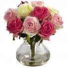Assorted Pastels Rose Arrangement w/Vase