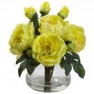 Yellow Peony & Rose w/Vase