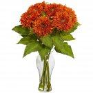 Orange Sunflower Arrangement w/Vase
