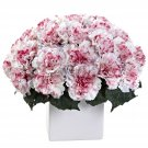 White Mauve Carnation Arrangement w/Vase
