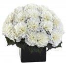 Cream Carnation Arrangement w/Vase