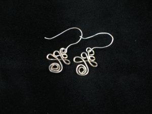sterling silver lucky dangle earrings
