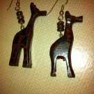 Giraffe Wood Earrings