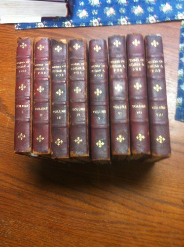 The Works of Edgar A Poe 8 Volume Red Leather Set 1896 USA