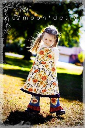 Boutique Custom Handmade Dress Jean Set Flowers