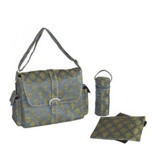 Kalencom Canvas Buckle Blue Diaper Bag
