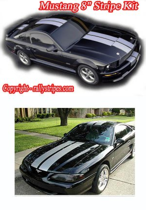 "Mustang 8"" Racing Rally Stripes"