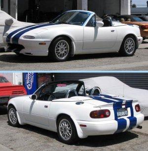 Mazda Miata 8 Inch Racing Rally Stripes