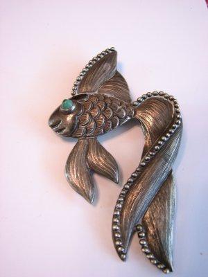 Los Castillos Sterling Taxco Fish Pin