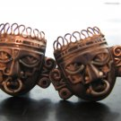Pair of Sterling Taxco Mexican Silver Cuff Links