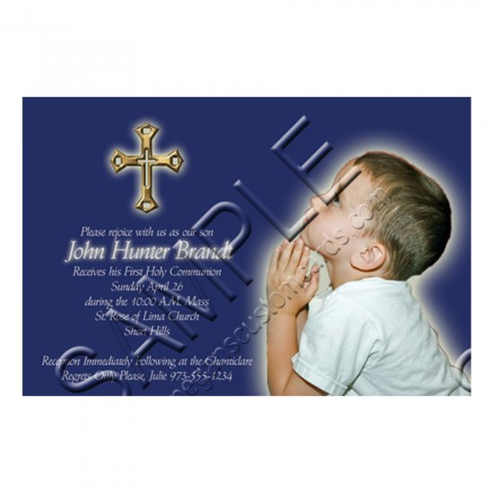 Custom Photo Invitation - First Holy Communion / Religious