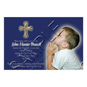Custom Photo Invitation - First Holy Communion / Religious