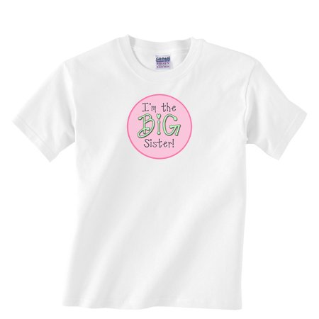 I'm the BIG SISTER!  Custom Boutique Tee Shirt for Toddler Girls