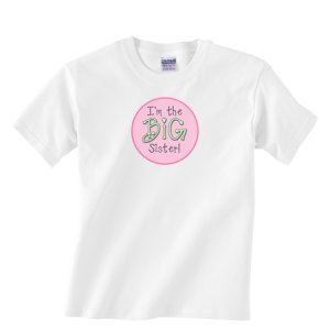 I'm the BIG SISTER!  Custom Boutique Tee Shirt for Girls
