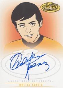 Star Trek Art & Images A11 Walter Koenig - Chekov auto card