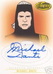Star Trek Art & Images A38 Michael Dante - Maab auto card