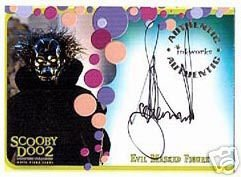 Scooby Doo 2 Monsters Unleashed A6 Scott McNeil - Evil Masked Figure auto card