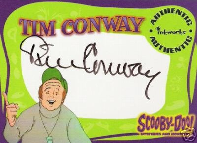 Scooby Doo Mysteries & Monsters A2 Tim Conway auto card