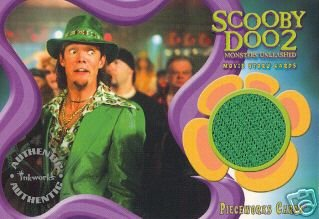 Scooby Doo 2 Monsters Unleashed PW5 Matthew Lillard - Shaggy Jacket Pieceworks insert card