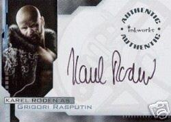 Hellboy movie A3 Karel Roden - Grigori Rasputin auto card