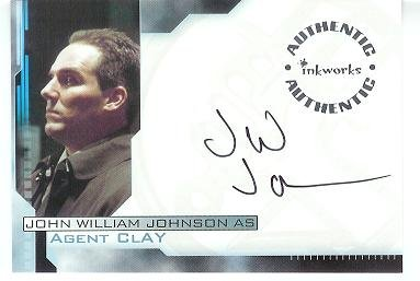 Hellboy movie A4 John William Johnson - Agent Clay auto card