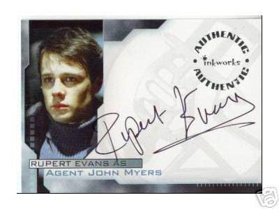 Hellboy movie A7 Rupert Evans - Agent John Myers auto card