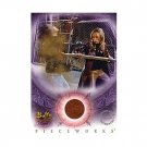 Buffy Women of Sunnydale WOS PW1 Sarah Michelle Gellar - Buffy Leather Pants Pieceworks insert card