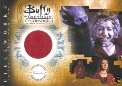 Buffy 10th Anniversary PW4 Alyson Hannigan - Willow Jacket Pieceworks insert card