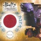 Buffy 10th Anniversary PW4 Alyson Hannigan - Willow Jacket Pieceworks insert card