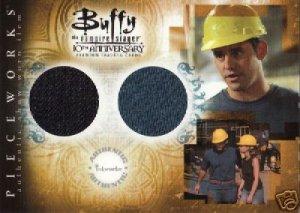 Buffy 10th Anniversary PW5 Nicholas Brendon - Xander T-Shirt & Jeans Dual Pieceworks insert card