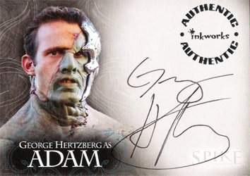 Spike the Complete Story A7 George Hertzberg - Adam auto card