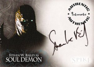 Spike the Complete Story A8 Steven Bailey - Soul Demon auto card