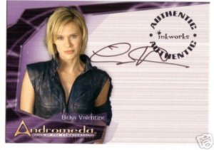 Andromeda Reign of the Commonwealth A2 Lisa Ryder - Beka Valentine auto card