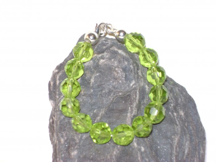 Peridot facetted Glass Medical I.D. Alert Replacement Bracelet