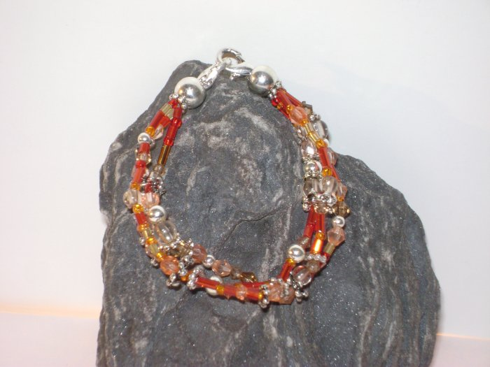 Coral Triple StrandMedical I.D. Alert Replacement Bracelet