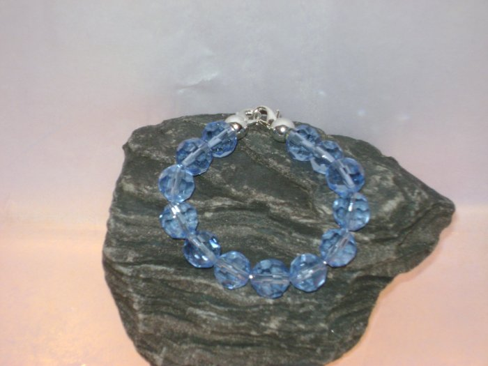Blue Facetted Glass Medical I.D. Alert Replacement Bracelet