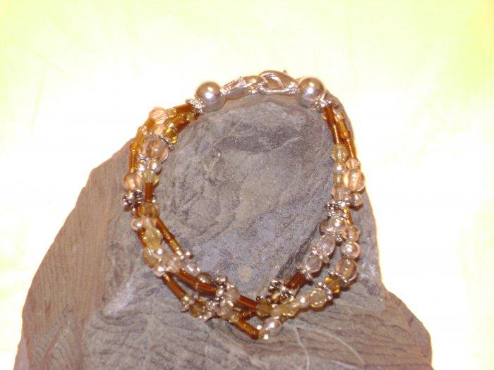 Amber Triple Strand Medical I.D. Alert Replacement Bracelet