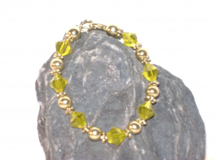 Medical Alert Replacement Bracelet Yellow & Gold